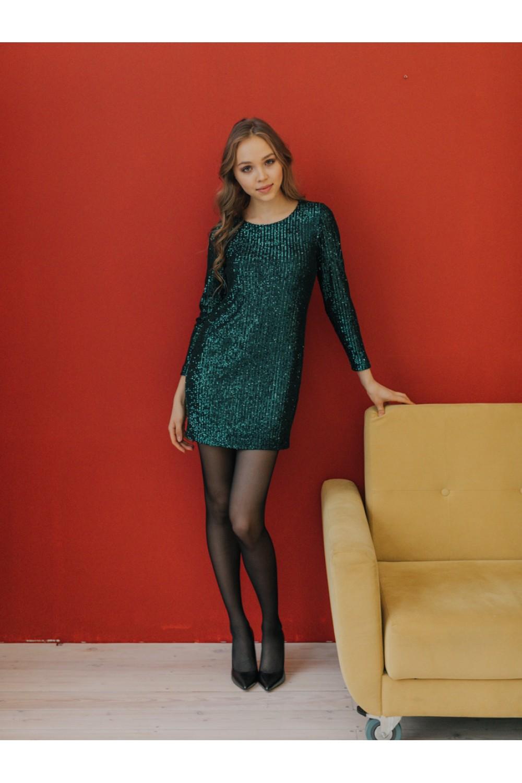 Платье пайетки AS080/зеленый