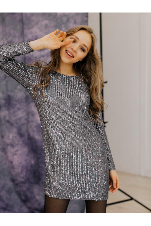 Платье с пайетками #AS080