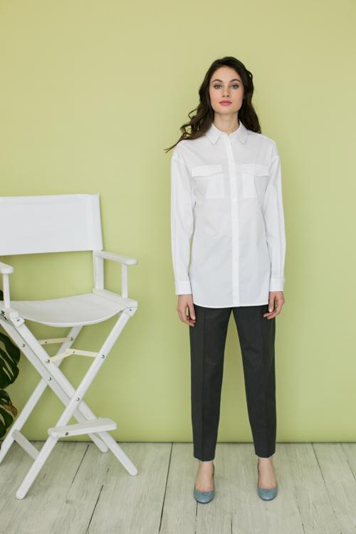 Рубашка свободного кроя  AS012