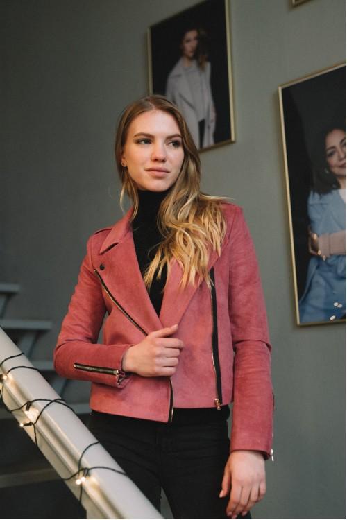 Куртка-косуха, розовая