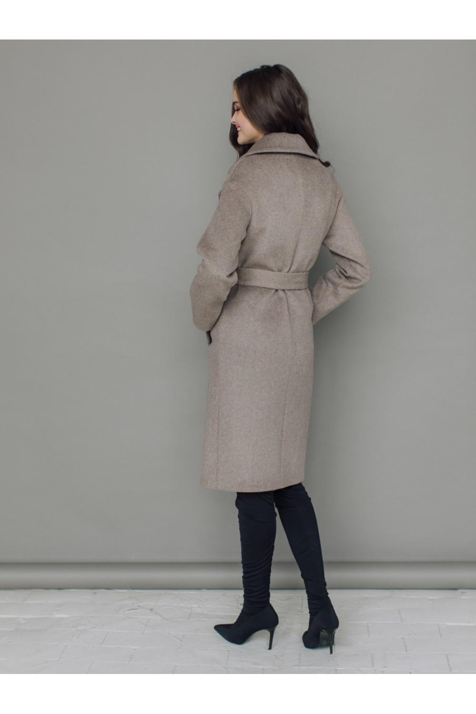 Классическое пальто-халат на запахе AS50m