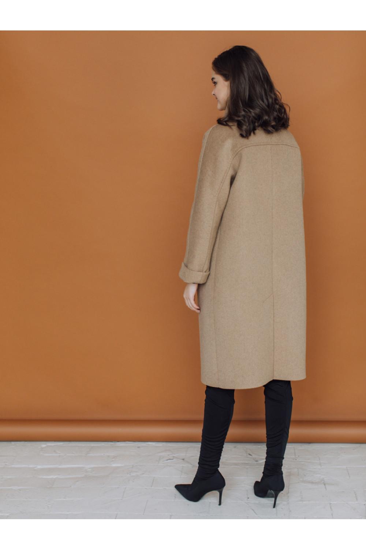 Пальто прямого силуэта с воротником-стойкой #AS067mn