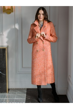 Двубортное длинное пальто #AS070mtv