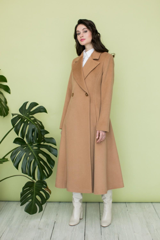 Удлиненное расклешенное пальто AS082