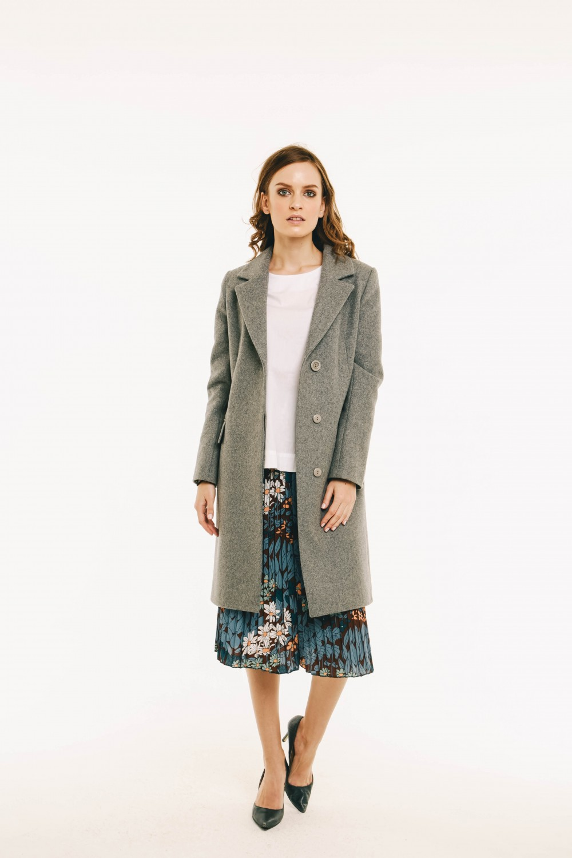 Пальто AS41/серый