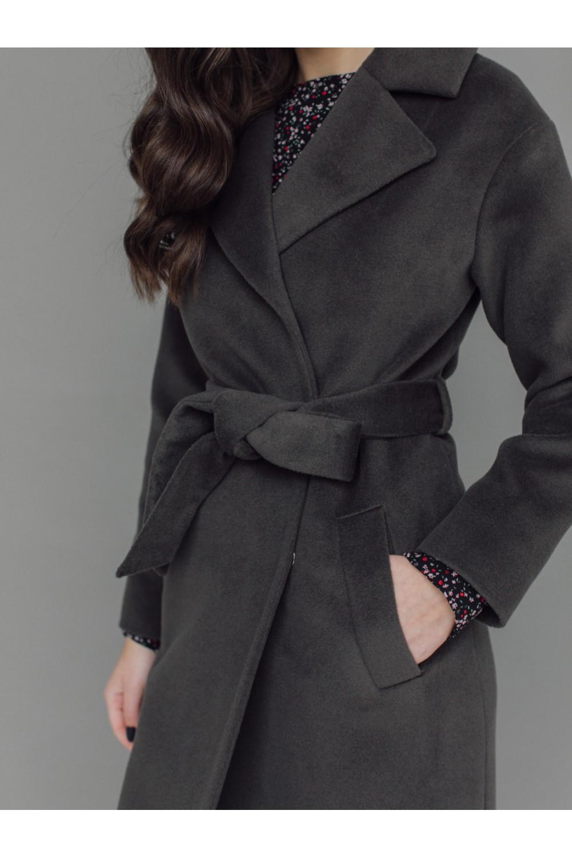 Классическое пальто-халат на запахе AS50-1