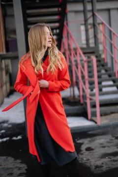 Классическое пальто-халат на запахе #AS50
