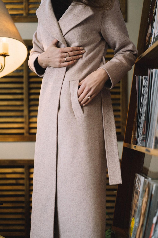 Пальто AS55-1/светло-бежевый