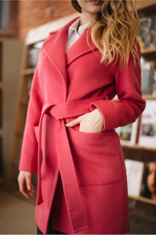 Укороченное пальто на запахе #AS55K