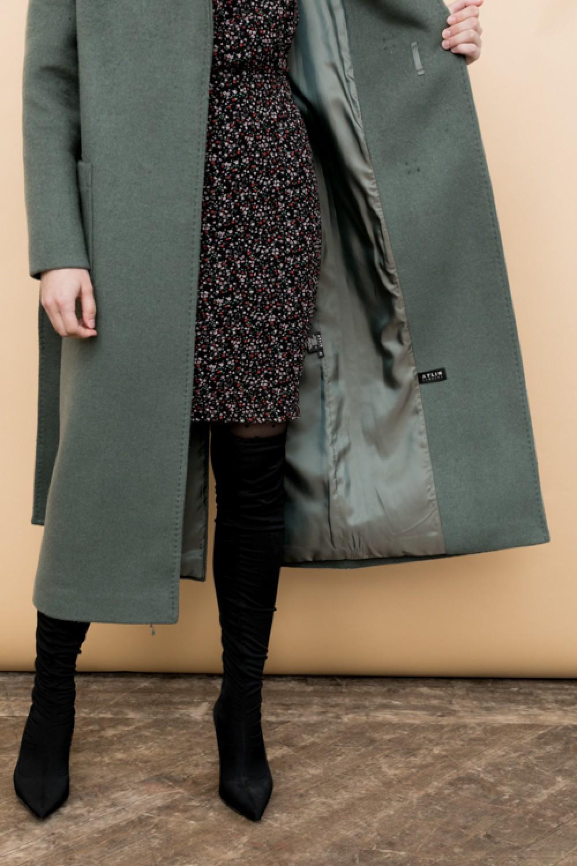 Удлиненное пальто с накладными карманами #AS55m