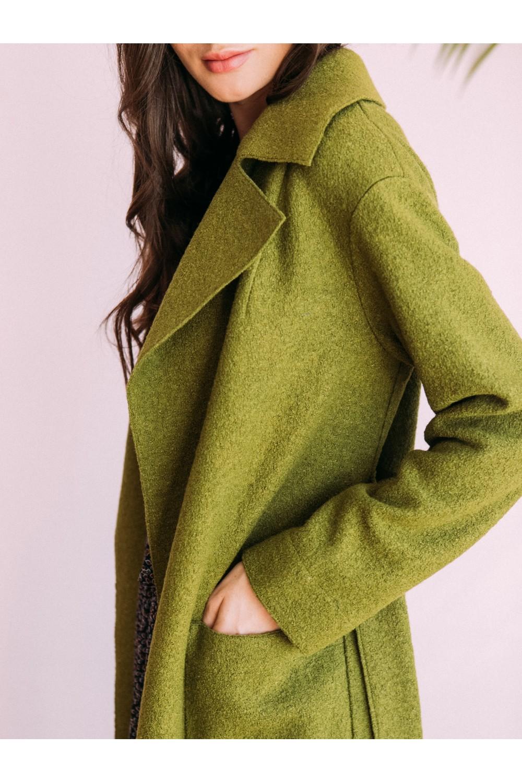 Классическое пальто-халат без подкладки #AS55v