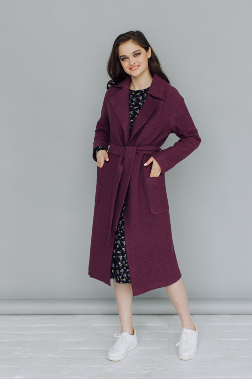 Пальто AS55V/фиолетовый