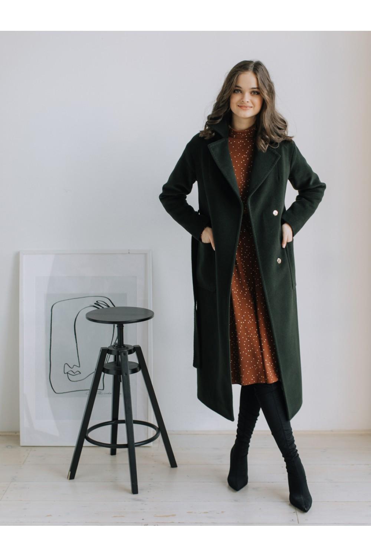 Классическое пальто-халат на запахе #AS55w