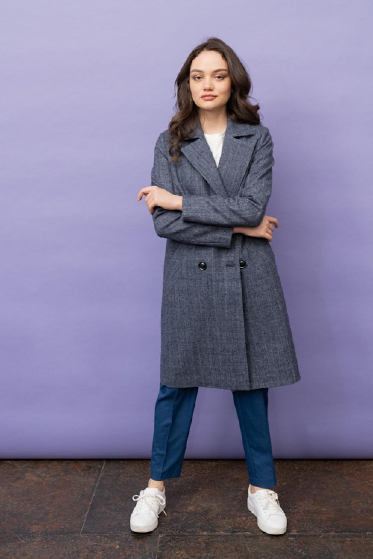 Пальто AS070K-2kl/синий