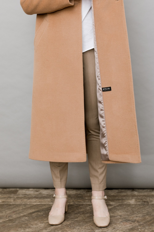 Двубортное длинное пальто #AS070