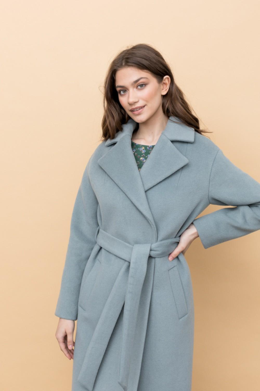 Классическое пальто-халат на запахе AS50-1m